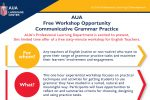 AUA Free Workshop Opportunity Communicative Grammar Practice