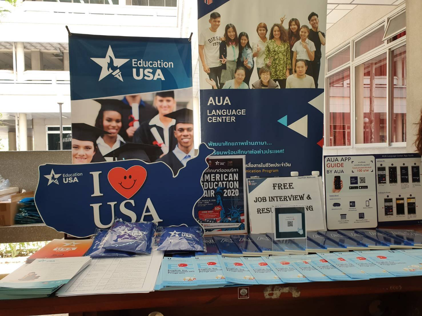 AUA Language Center, Nakornpathom ร่วมกับ EducationUSAThailand เข้าร่วมงาน JobFair2020 by job DB