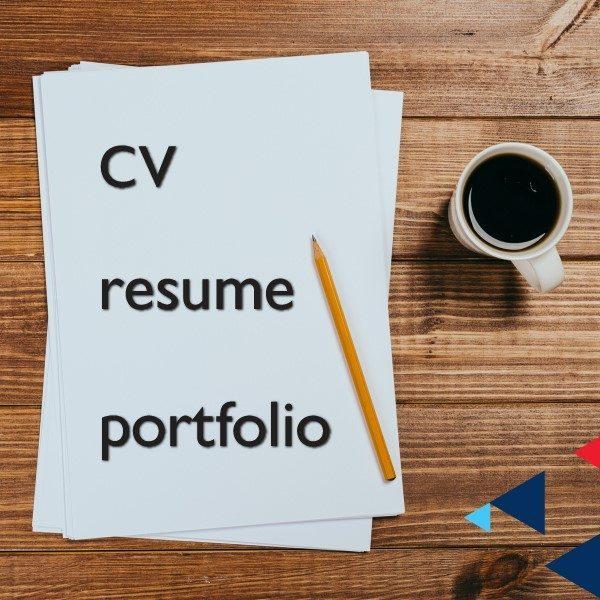 CV, resumé & portfolio